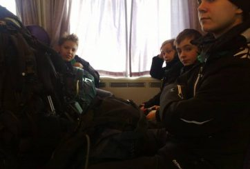 I tåget mot Lappila